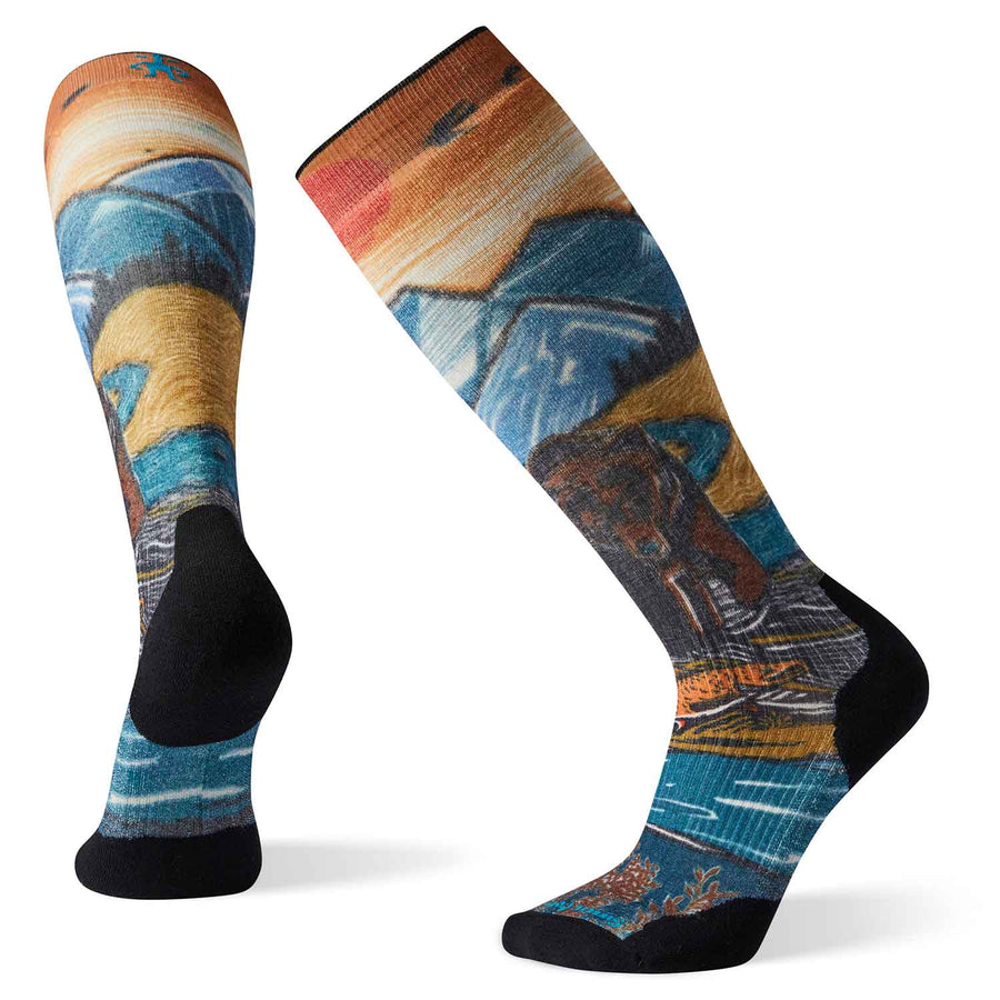 Mens PhD Snow Light Elite Print Socks