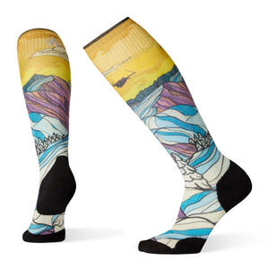 Women's PhD Ski Light Elite Afterglow Print Socks