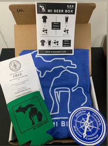 Mi beer box T shirt package 6 month Subscription