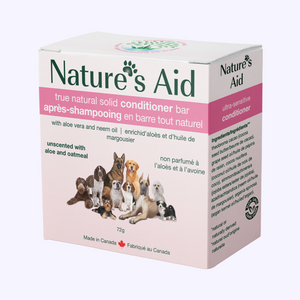 Nature's Aid solid shampoo and travel tin