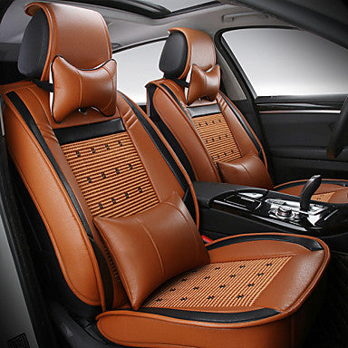 ODEER Car Seat Covers, Leatherette Seat Covers Waterproof Breathable 5 Seats Full Set Front Back Cover - Fit Most Car, SUV, or Van