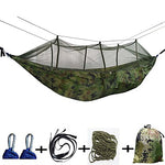 Camping Hammock with Mosquito Net Outdoor Camping Portable Windproof Ultra Light (UL) 250*135 cm Canvas Nylon Hunting Fishing Hiking for 2 person
