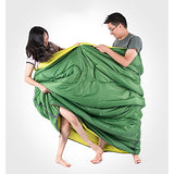 Naturehike Double Sleeping Bag with 2 Pillows Outdoor Double Wide Bag 5~15 °C Double Size Cotton Warm Moistureproof Ultra Light (UL) Dust Proof 210*145 cm 2 Person Hiking Beach Camping Traveling