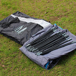 8 person Tunnel Tent Family Tent Outdoor Lightweight Windproof Breathability Single Layered Poled Tunnel Camping Tent Three Rooms 1000-1500 mm for Fishing Camping / Hiking / Caving Picnic 480*310*210