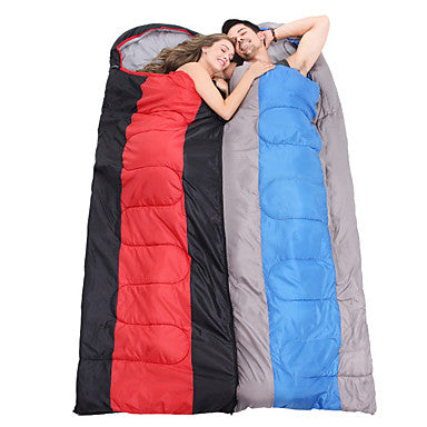 Sleeping Bag Outdoor Envelope Rectangular Bag 2 pcs for 2 person -5-15 °C Double Size Cotton Waterproof Portable Windproof Warm Moistureproof Ultra Light (UL) Breathability Anti-Insect Foldable