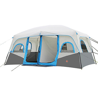 Shamocamel® 8 person Cabin Tent Family Tent Outdoor Waterproof Portable Breathable Double Layered Automatic Instant Cabin Camping Tent Two Rooms 2000-3000 mm for Camping / Hiking Fishing Climbing