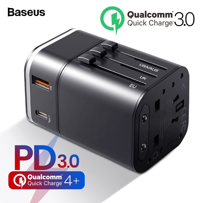 BASEUS Quick Charge 4.0 USB 3.0 Charger Universal Travel Adapter