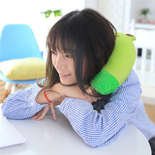 Load image into Gallery viewer, Soft U Shape Neck Pillow Memory Foam Kids Neck Support Rest Travel Pillow Cartoon Pillows For Airplane Car Sleep JZ01