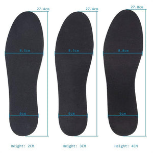 Soumit Height Increase Insoles for Men/Women Comfortable Memory Foam Air Cushion Heel lifts Shoe Insole Shoe Sole Inserts Pad