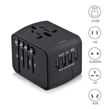 Load image into Gallery viewer, Travel Adapter International Universal Power Adapter All-in-one with 3.4A 4 USB Worldwide Wall Charger for UK/EU/AU/Asia