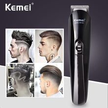 Load image into Gallery viewer, Kemei 6 in 1 Rechargeable Hair Trimmer Titanium Hair Clipper Electric Shaver Beard Trimmer Men Styling Tools Shaving Machine 600