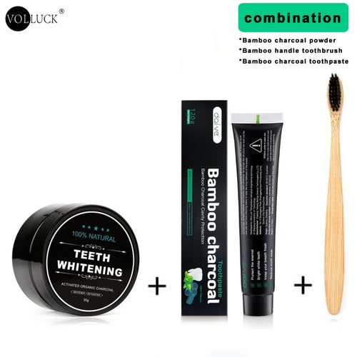 Activated Charcoal Teeth Whitening Full Kit
