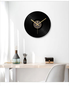 Designer Silent Glass Vinyl Record Clock