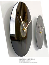 Load image into Gallery viewer, Designer Silent Glass Vinyl Record Clock