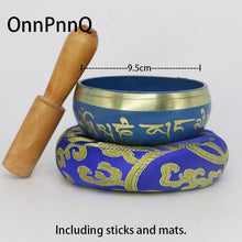 Load image into Gallery viewer, Blue Tibetan Singing Bowl (Incl. Stick & Mat)