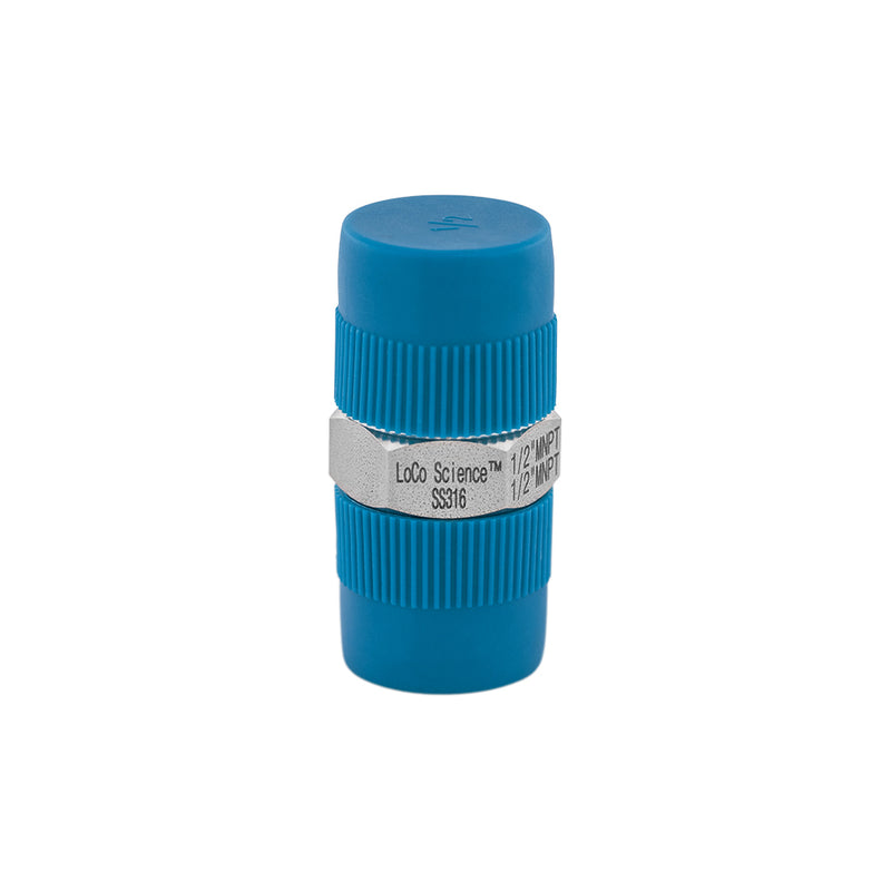 1/2 MNPT x 1/2 MNPT Straight Hose Adapter | LoCo Science