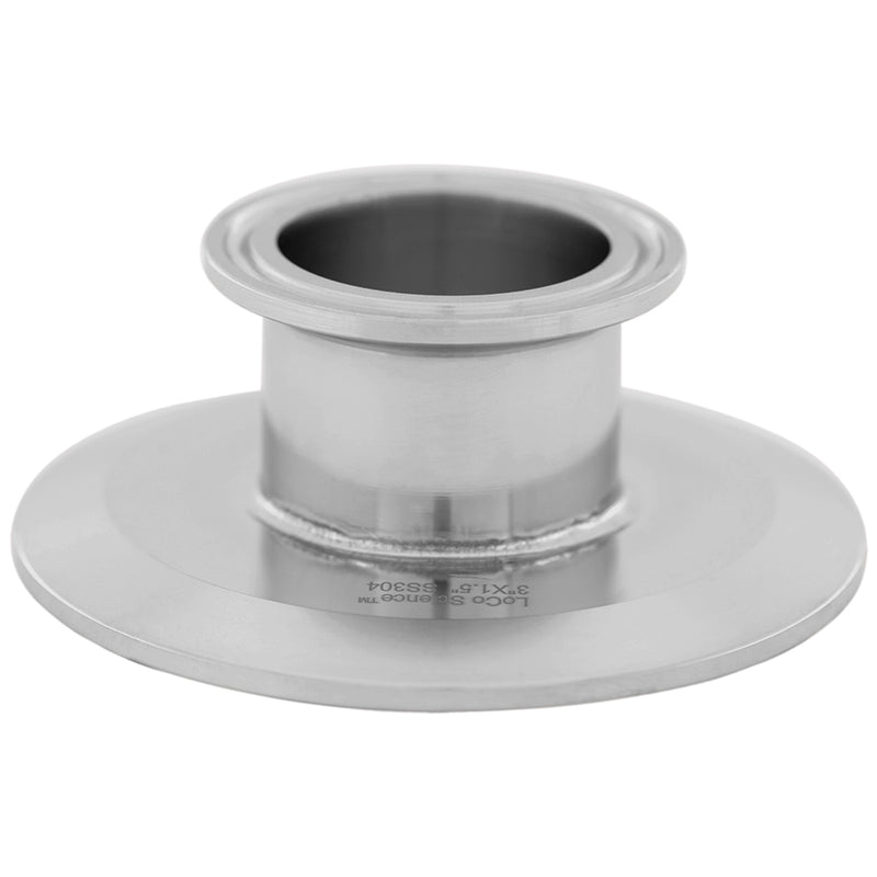 "Tri Clamp Flat Reducer 3"" x 1.5"" 