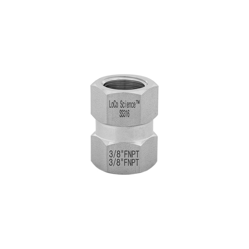 3/8 FNPT x 3/8 FNPT Straight Hose Adapter | LoCo Science