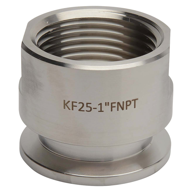 "KF-25 Flange to 1"" NPT Female Vacuum Fitting Adapter"