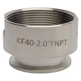 "KF-40 Flange to 2"" NPT Female Vacuum Fitting Adapter"