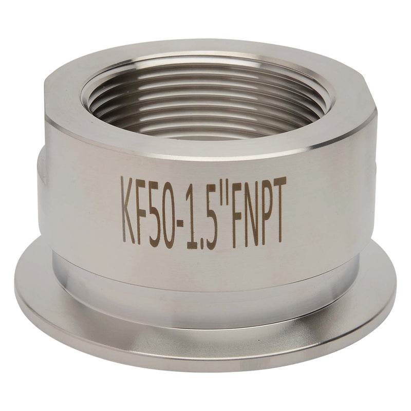 "KF-50 to 1.5"" NPT Female Vacuum Fitting"