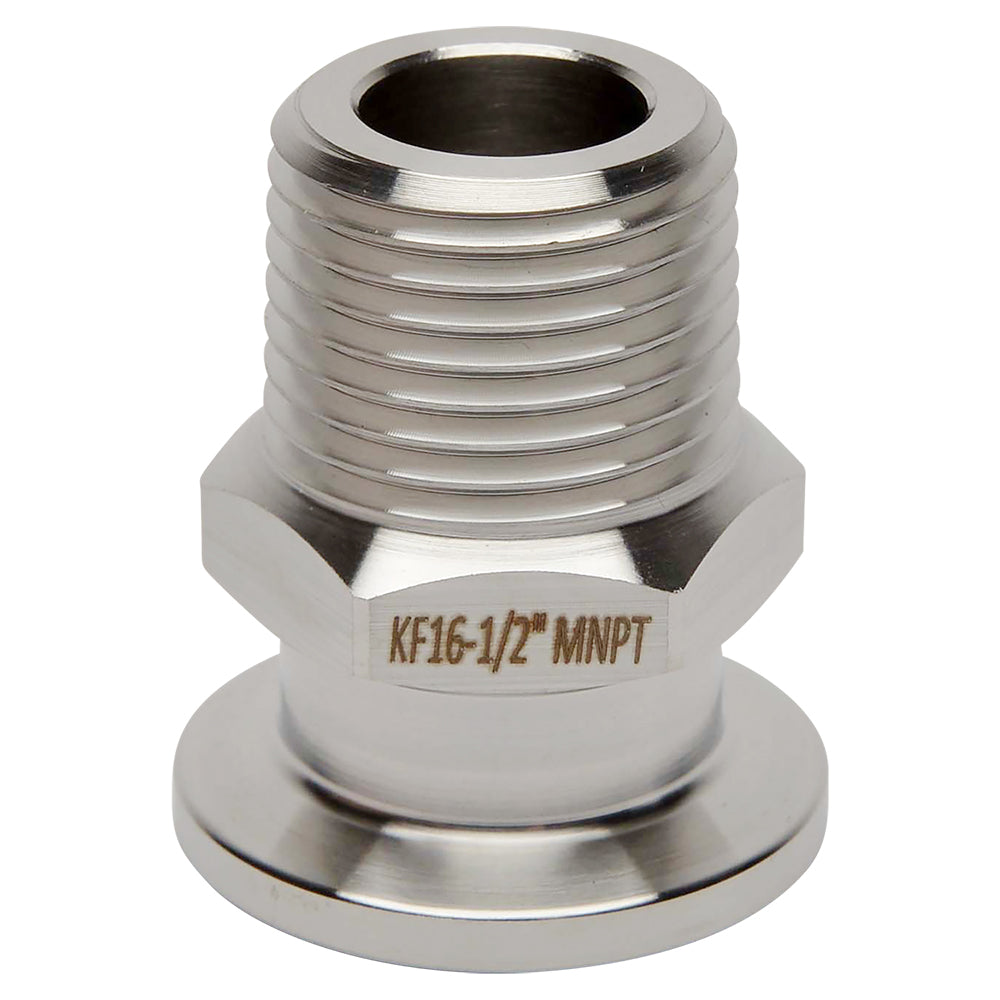 "KF-16 Flange to 1/2"" NPT Male Vacuum Fitting Adapter"