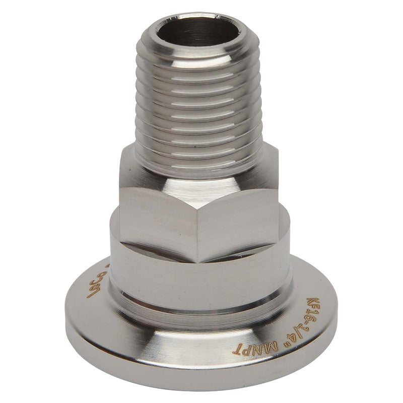 "KF-16 Flange to 1/4"" NPT Male Vacuum Fitting"