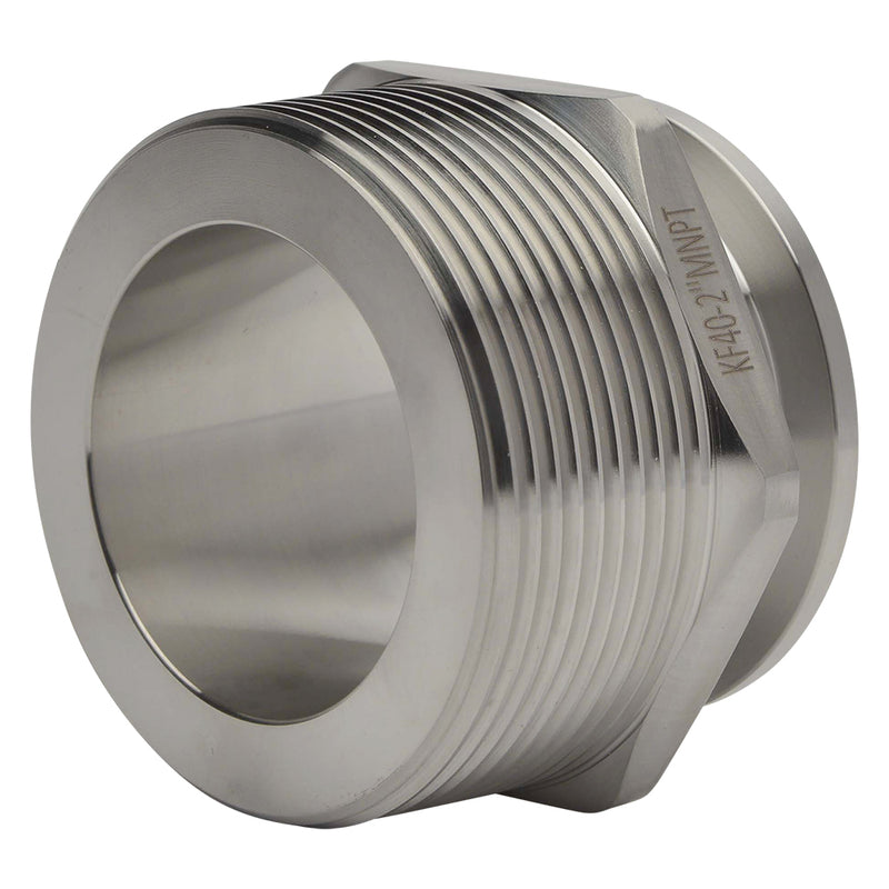 "KF-40 Flange to 2"" NPT Male Vacuum Fitting Adapter"