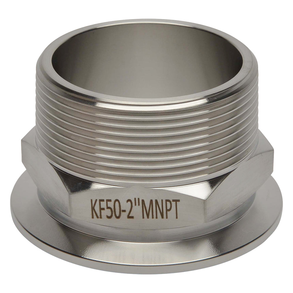 "KF-50 to 2"" NPT Male Vacuum Fitting"