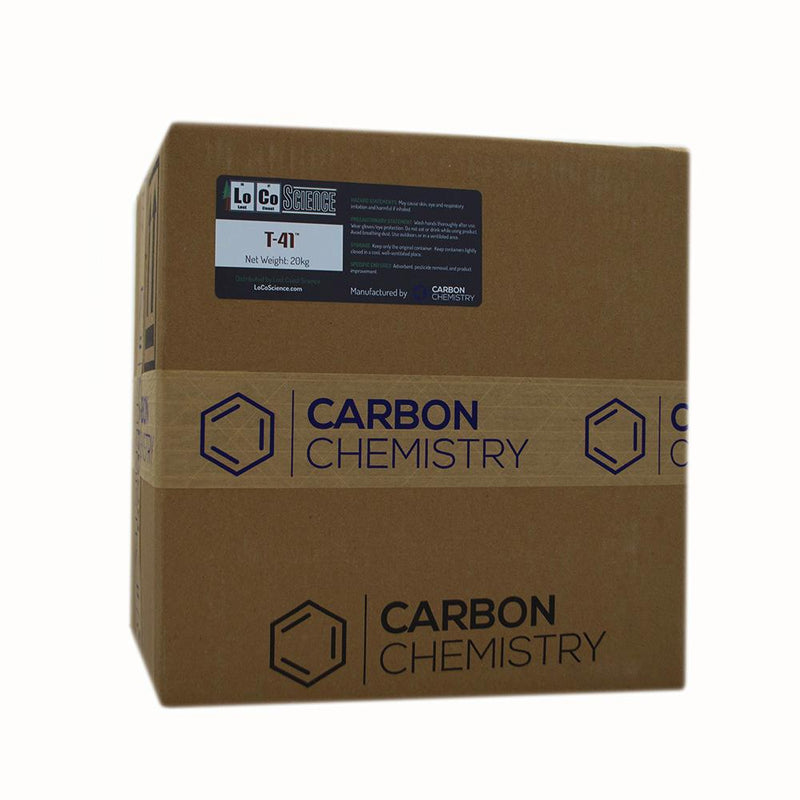 20KG variant of T-41 Acid Activated Bleaching Clay by Carbon Chemistry. T-41 Acid activated is a filtration media sold by LoCo Science.