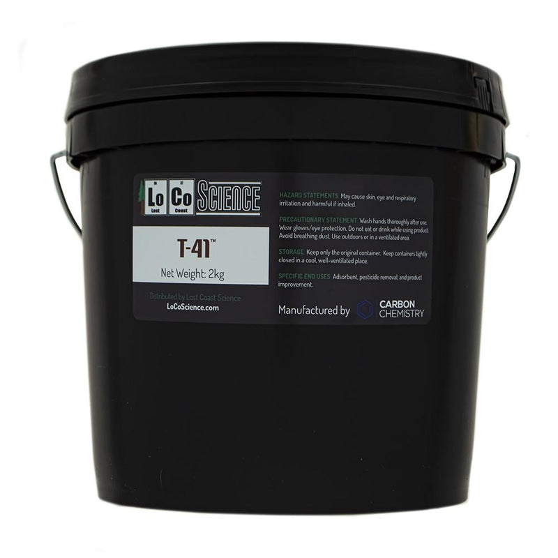 2KG variant of T-41 Acid Activated Bleaching Clay by Carbon Chemistry. T-41 Acid activated is a filtration media sold by LoCo Science.