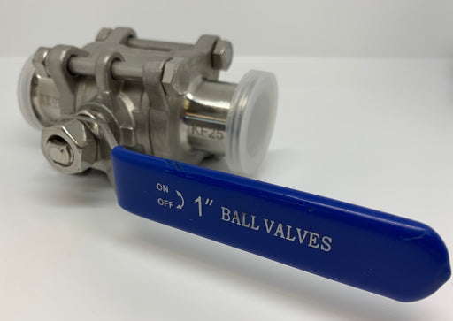 "KF-25 1"" Sanitary Ball Valve - loco-science"