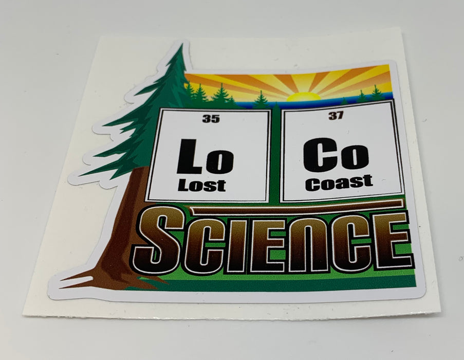 Full Color LoCoScience Stickers - loco-science