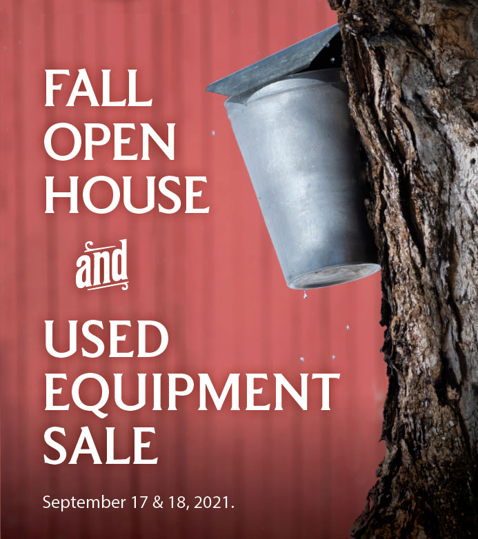 Fall Open House and Used Equipment Sale 2021