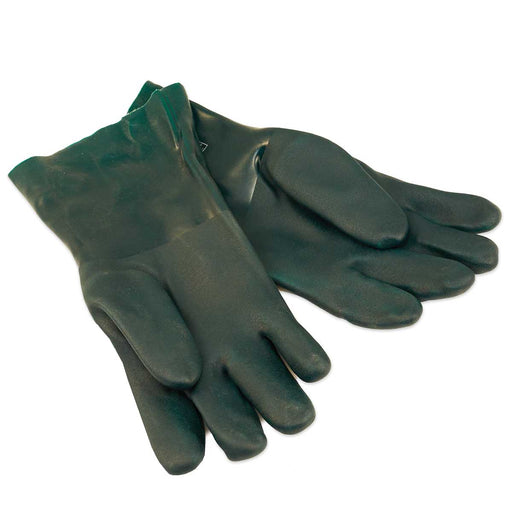 "Rubber Gloves for Hot Syrup or Water, 14"" from finger tip to end of the cuff. These gloves work great for cleaning a filter press or for cleaning evaporator pans."