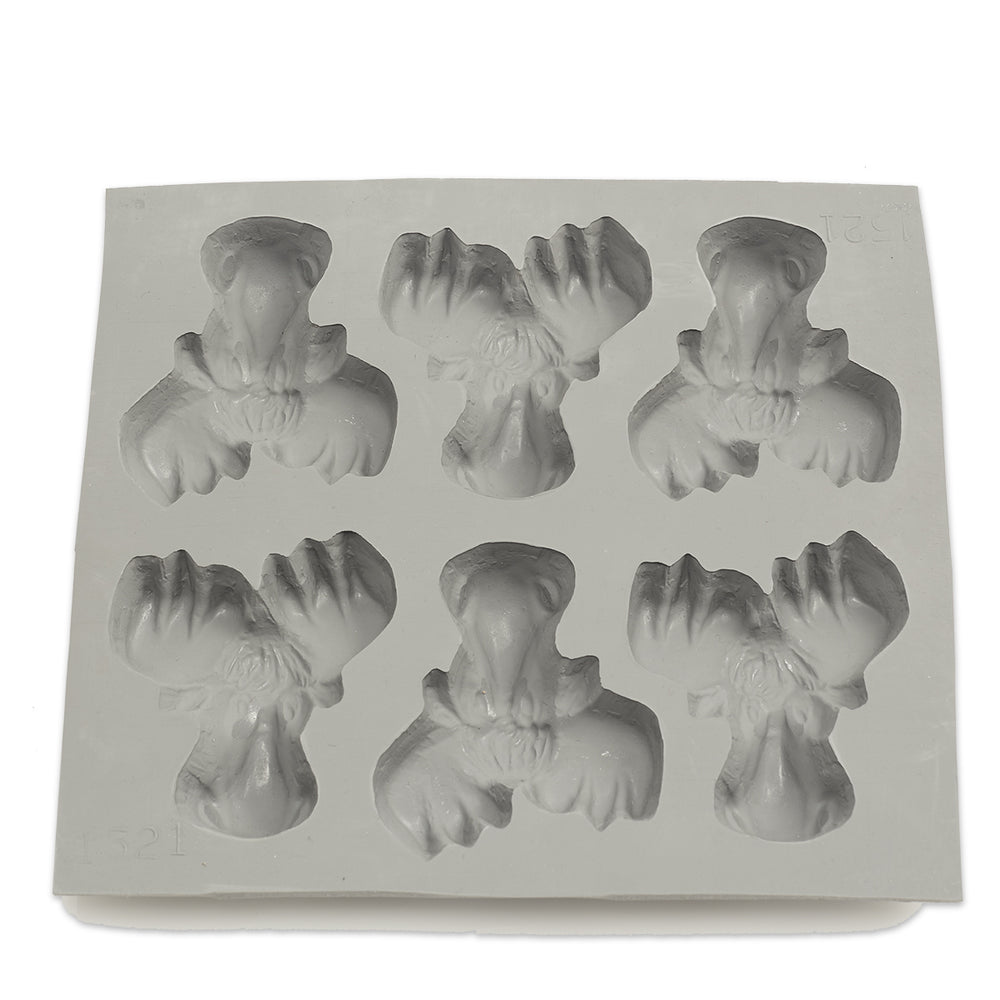 Moosehead Rubber Candy Mold (6 Cavity)