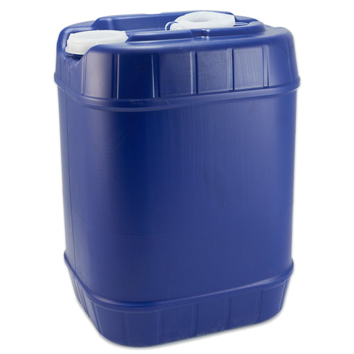 5 Gal Blue Plastic Rectangular Drum