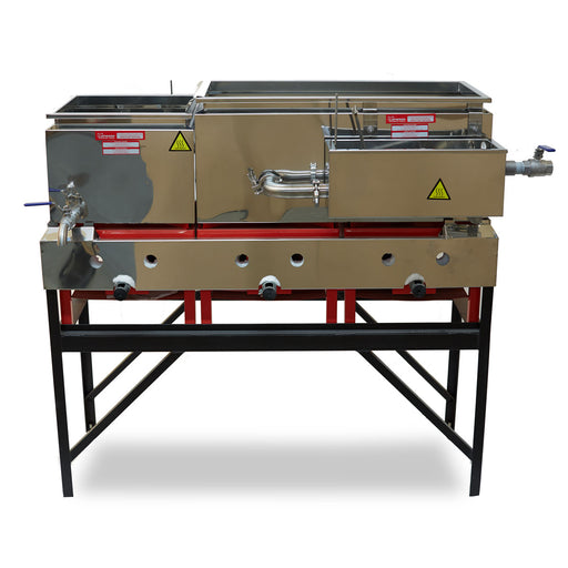 "16""x48"" Lapierre Propane Evaporator w/Welded (raised flue) Pans and three 65,000 btu Burners"