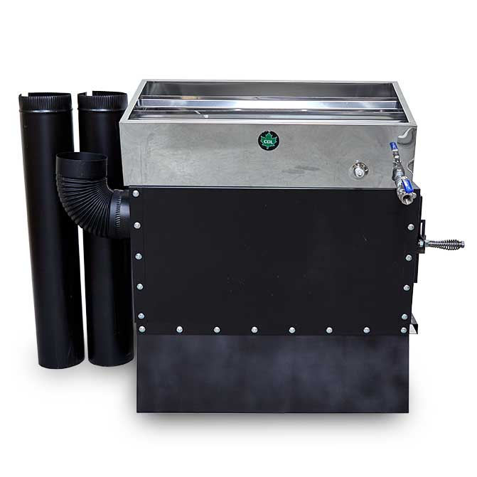 "CDL 16""x32"" Hobby Pro Evaporator w/Arch, Welded Pan, Insulation, 6"" of Black Stack, 6"" Elbow and Valve"