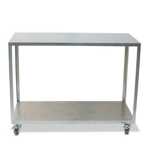 "Stainless Filter Press Cart on Wheels (20"" wide x 44"" long x 33 1/2"" high)"