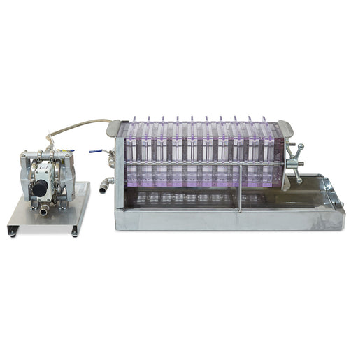 "7 12"" Plastic Filter Press w/10 Frames and Air Diaphragm Pump"