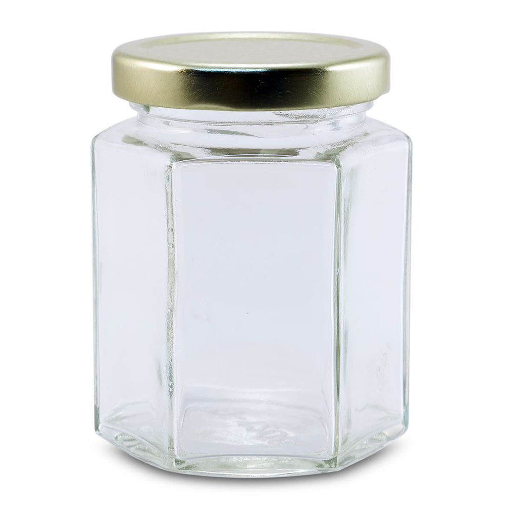 8.8 oz. Hex Glass Jar (12/case)