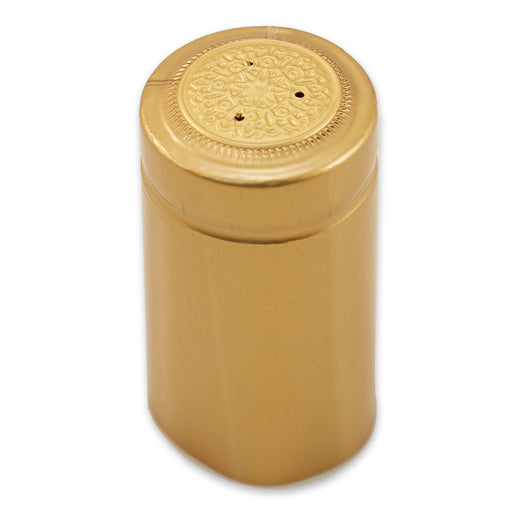 Gold 28mm Heat Shrink Capsule (100/pack)