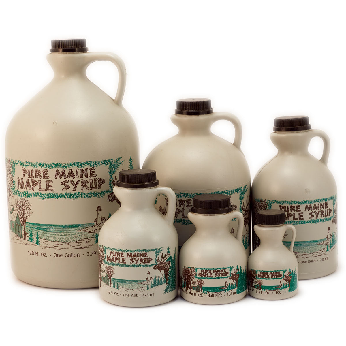Maine Moose 2-Color Pint Jug