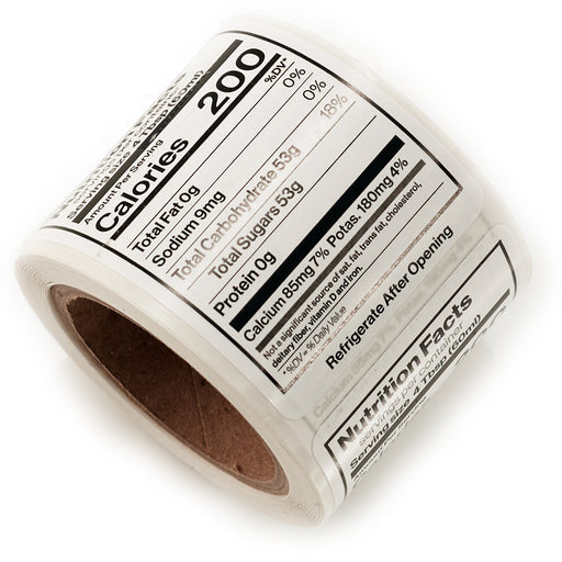 "Nutrition Label 1 5/8""x2 1/4"" (100/roll)"