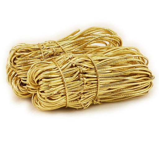 Medium Gold Elastic Tie 100/pk