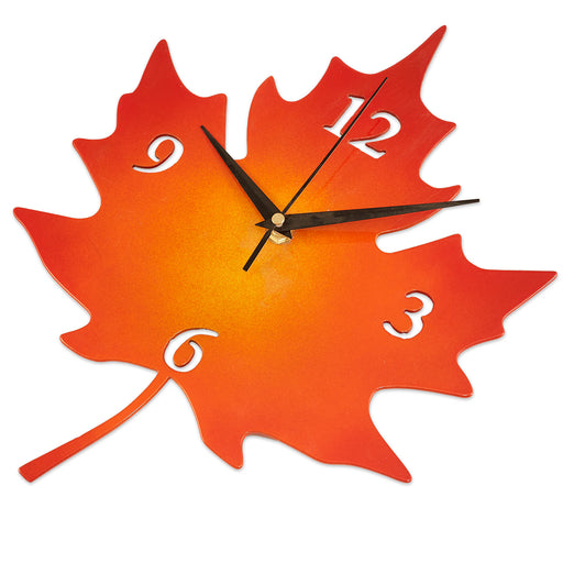 Metal Maple Leaf Clock