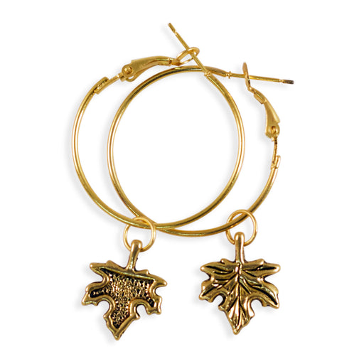 Maple Leaf Earrings Gold