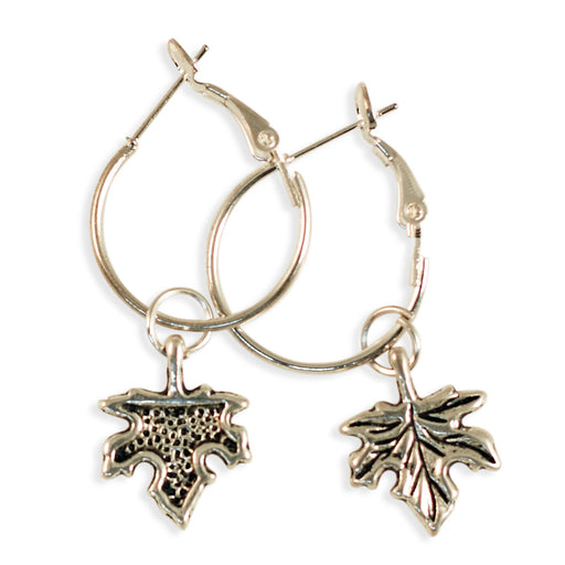 Maple Leaf Earrings Silver