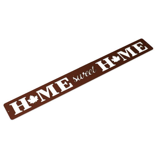 Maple Leaf Home Sweet Home Sign (rustic)